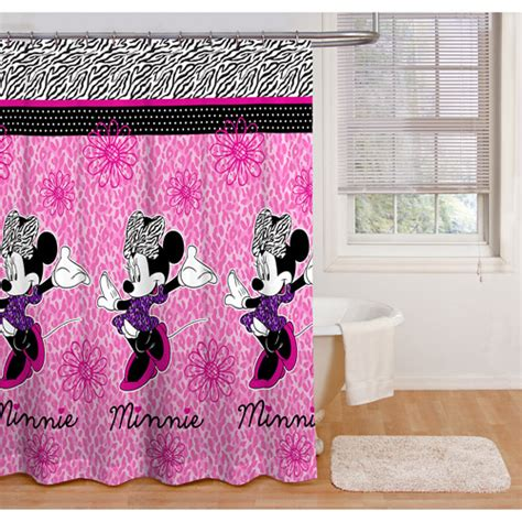 minnie mouse curtains minnie mouse glamour shower curtain walmart com