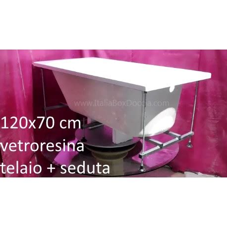 vasca da bagno 120x70 vasca da bagno con telaio rinforzato e seduta 120x70 cm in