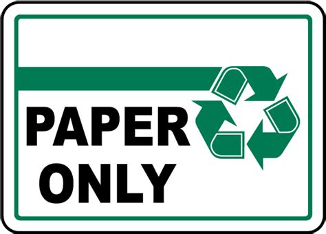 printable paper recycling sign pin recycle paper sign on pinterest