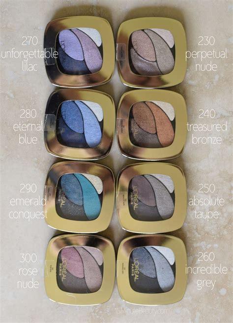 L Oreal Color Riche l oreal colour riche dual effects eye shadow quads review