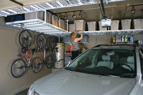 Garage Storage Bars Monkey Bars Traditional Garage And Shed Omaha By