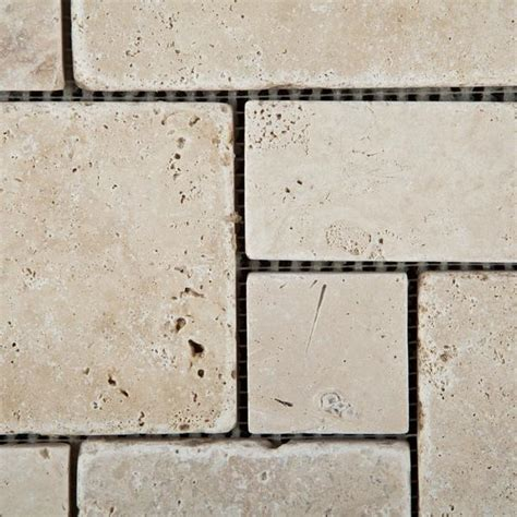 opus pattern travertine tiles ivory travertine 4 pieced opus mini pattern mosaic tile