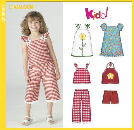 patterns sewing children s clothes new look 6392 child s dresses tops cropped pants and shorts