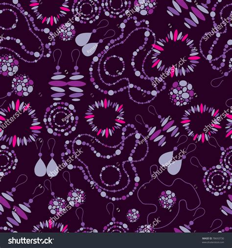 vector pattern jewelery vector seamless pattern fashion jewelry from stock vector