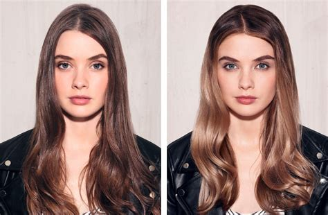 before and after hair styles of faces hair contouring the it look to shine all winter long