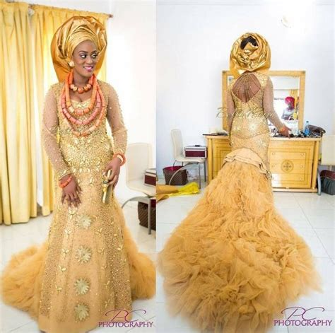Inspiration gowns nigerian dresses fashion africa cream color