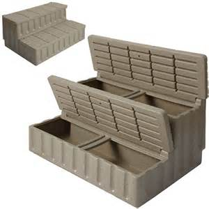 Spa Stairs by Buy Tubs Direct Tub Spa Storage Steps Cobblestone