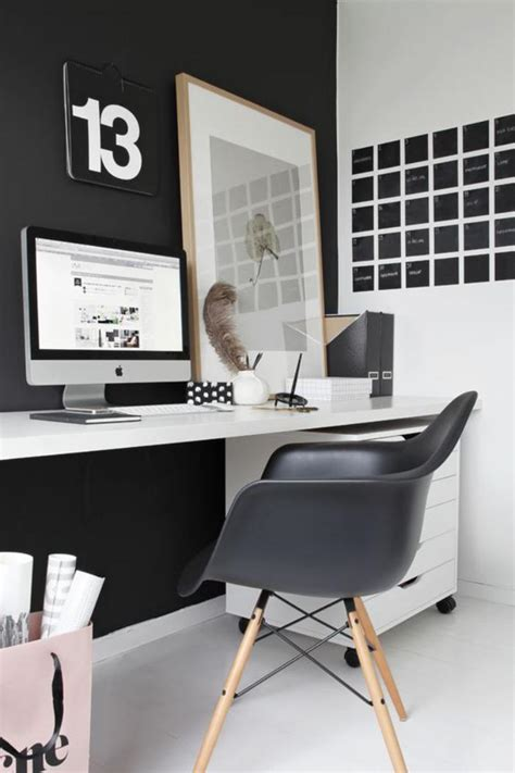 Black And White Desk Chair Design Ideas Am 233 Nagement D Un Petit Espace De Travail Le Bureau Style Scandinave
