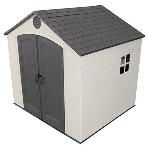 Lifetime Outdoor Storage Shed Lifetime 8 X 7 5 Outdoor Storage Shed Gray Target