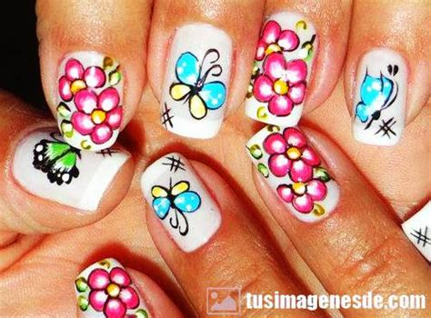 imagenes uñas decoradas flores unas decorada uas decoradas lindas con flores y french
