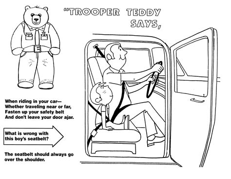 free drawings of road safety coloring pages