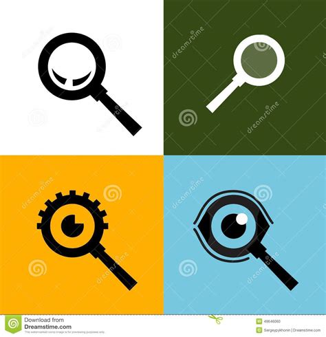 logo search vector search vector logo design template magnifying stock vector illustration of magnifying macro