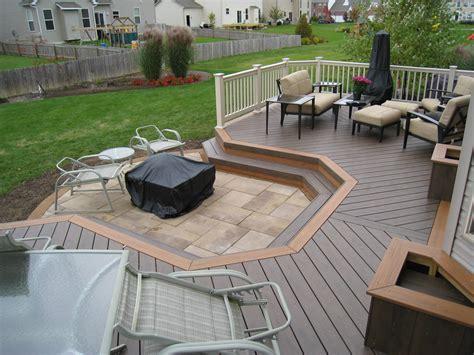 pit deck trex composite decking fort wayne deck designers knot just