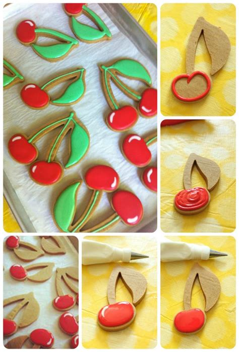 How To Make Decorated Cookies how to make decorated cherry cookies sweetopia