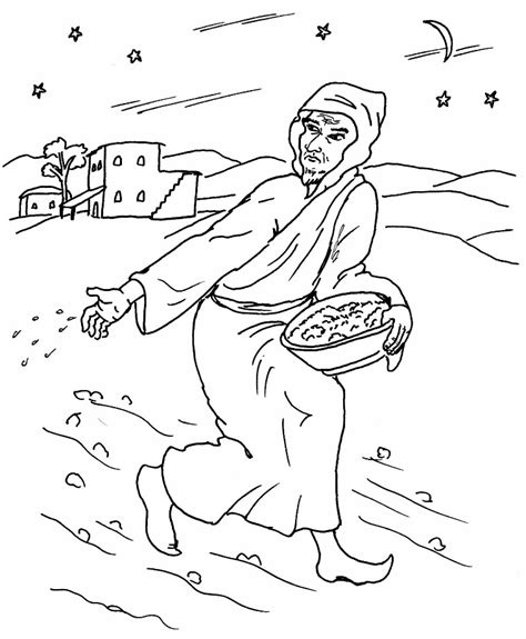 free parable of sower coloring pages