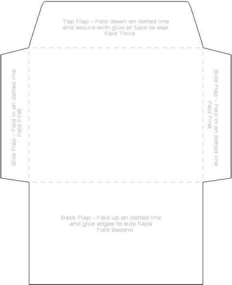 envelope template paperinkle