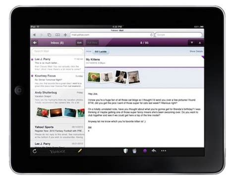 yahoo email on ipad yahoo adds ipad email interface and google updates gmail