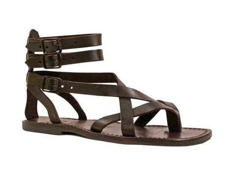 brown s gladiator sandals handmade in italy italian