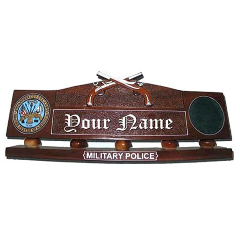 military desk name plates office hand carved desk name plate military police
