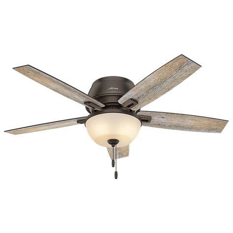 Ceiling Fan With Led by Donegan 52 In Led Indoor Onyx Bengal Bronze