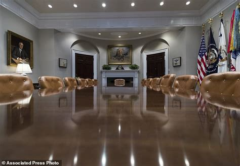 the white house s gleaming new renovations include trump west wing update includes new paint carpet and eagles