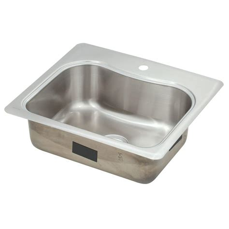 home depot kitchen sinks drop in kohler staccato drop in stainless steel 25 in 1 hole