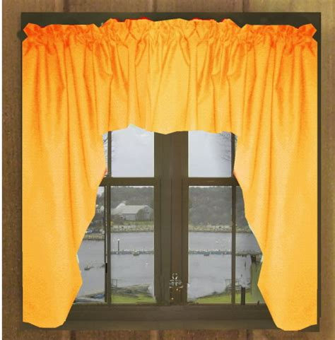 yellow swag curtains solid yellow orange swag valance