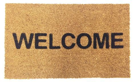 Vinyl Backed Welcome Coco Doormat   Coco Mats N' More
