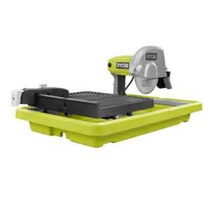 home depot tile saw ryobi 7 in overhead tile saw ws731n the home depot
