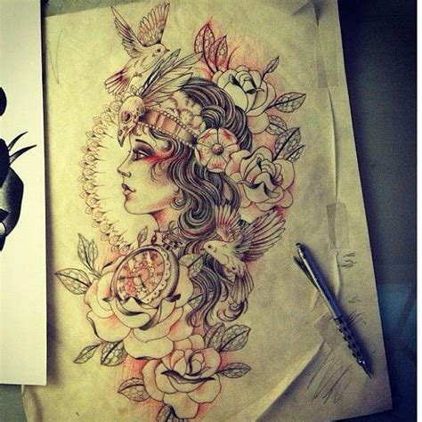 gypsy girl tattoo design beautiful designs i would put this on my left