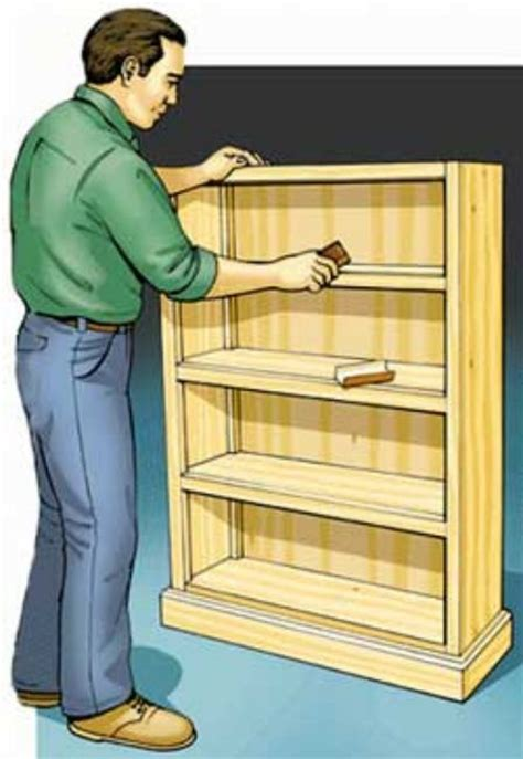 free access woodworking plans bookshelf build by own
