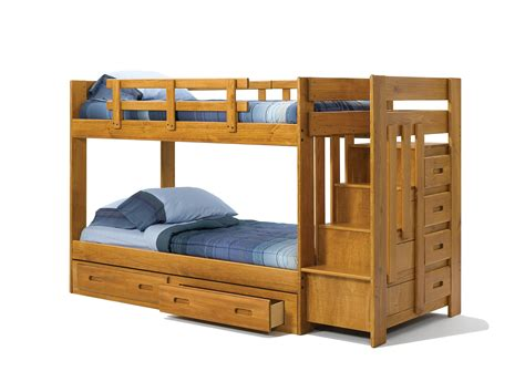 Woodcrest Stair Step Bunk Bed Kids Bunk Beds Bunk Bed Staircase