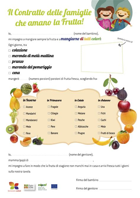 alimenti per diarrea bambini il contratto per far mangiare frutta e verdura ai bimbi
