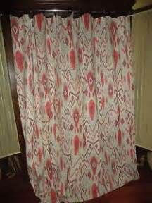 threshold ikat southwestern brown taupe fabric shower