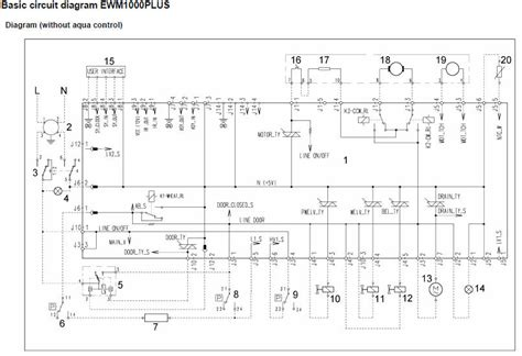 zanussi washing machine wiring diagram service manual