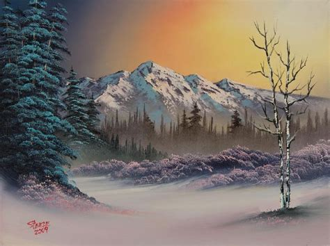 bob ross painting winter bob ross pastel winter paintings bob ross pastel