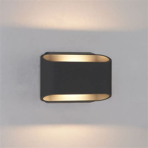 Contemporary Outdoor Wall Sconce Bruck 105050bk Eclipse Contemporary Black Led Outdoor Wall