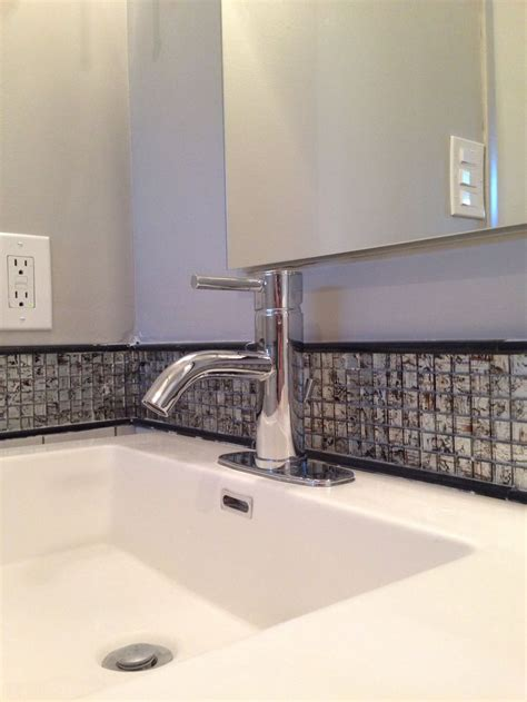 bathroom vanity with backsplash bathroom vanity backsplash home decor pinterest