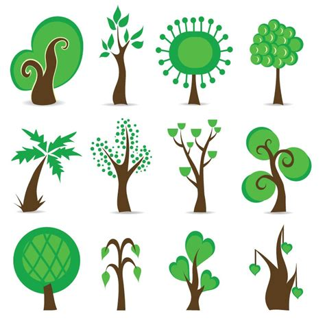 tree symbols tree symbols vector graphic free vector graphics all