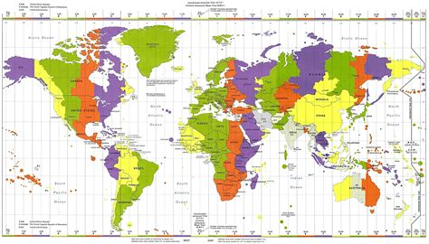 world time zones map map of world time zones