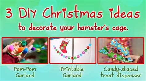 diy 3 ways to decorate clothespins youtube 3 diy christmas ideas to decorate your hamster s cage