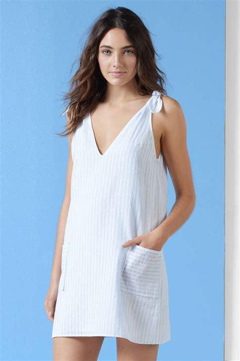 light blue shift dress white light blue shift dress tie dress white