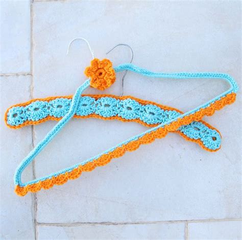 pattern for crocheted clothes hangers shabby hangers coated crochet knitting crochet dıy