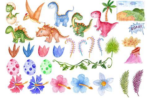 watercolor clipart watercolor dinosaur clipart by vivastarkids