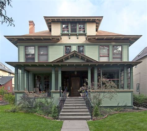 Craftsman Four Square House Plans And Exteriors Pinterest