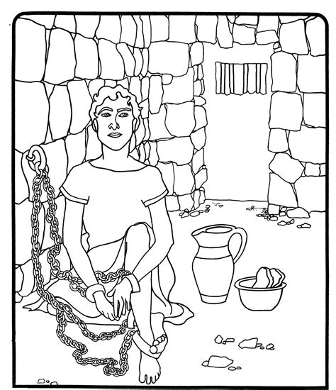 free coloring pages of joseph bible story