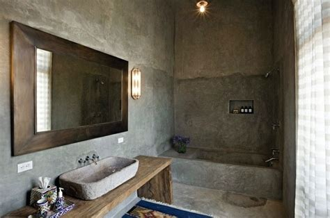 Bathroom Walls Cold Wall Color With Concrete Look Walls Made Of Concrete