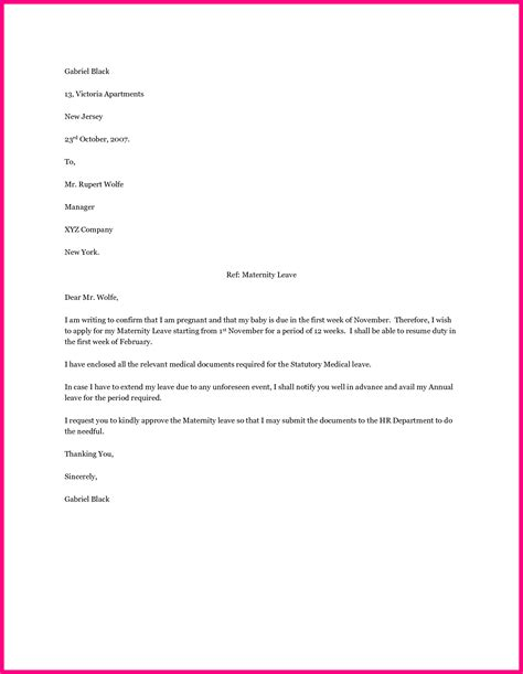 pregnancy confirmation letter template examples letter