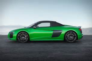 Audi Spyder R8 Audi Unveils R8 Spyder V10 Plus Most Powerful Convertible