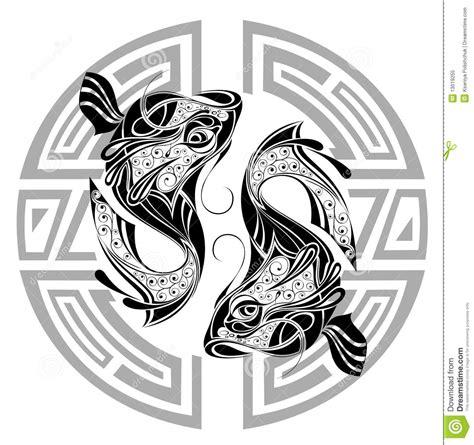 rotella dello zodiaco con il segno del disegno di pisces